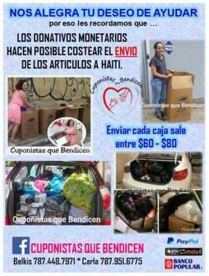 informacion donativos monetarios cuponistas que bendicen