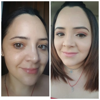 antes y despues con polvo base Younique