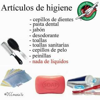 articulos higiene operacion nino navidad