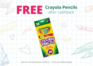 Gratis 24 LAPICES DE colores marca crayola en walmart