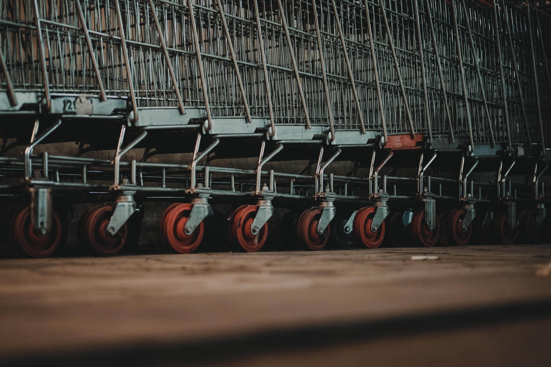 carro de compras para el supermercado