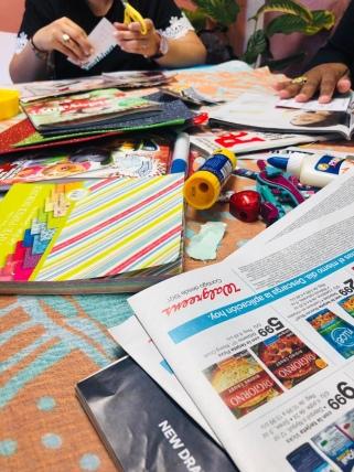 materiales necesarios para crear el vision board