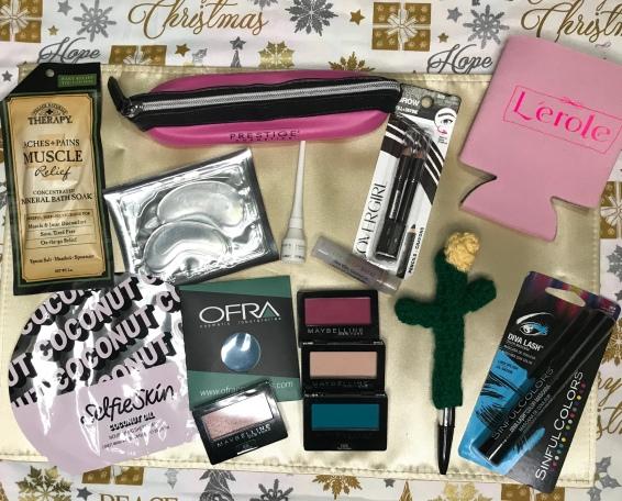 productos para sorteo con articulos de belleza, accesorios y mas