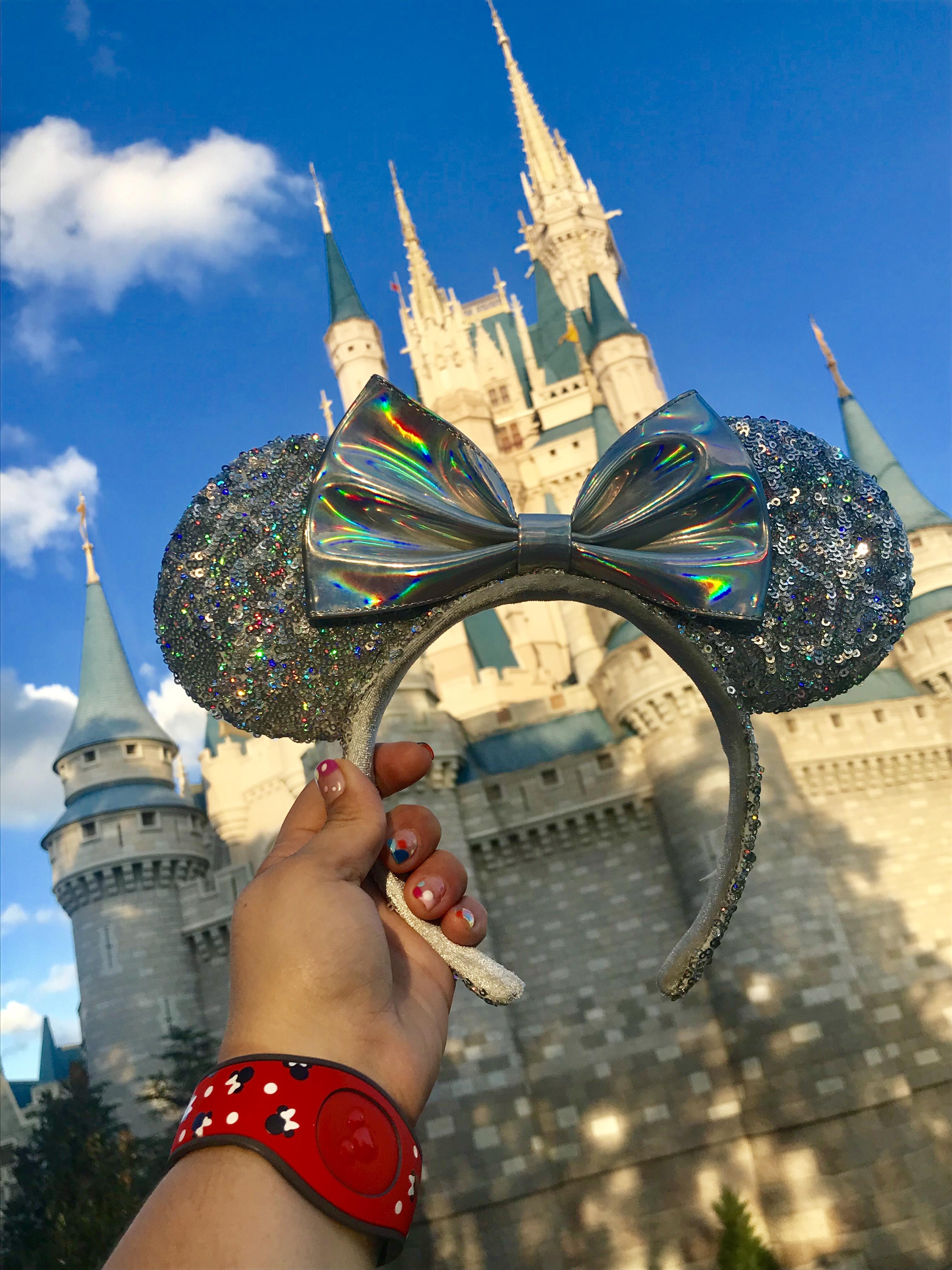 Imagen castillo princesa con orejas de Minnie en Disney